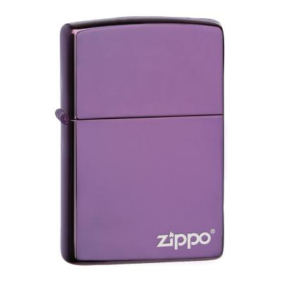Zippo - High Polish Purple with Zippo Logo Abyss - Windproof Lighter