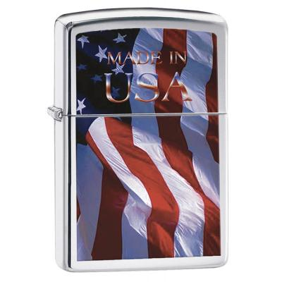 Zippo - Made in USA Flag - Windproof Lighter