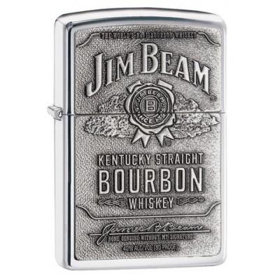 Zippo - Jim Beam Label High Polished Chrome - Windproof Lighter