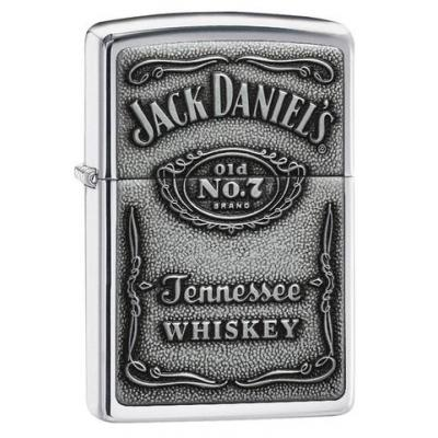 Zippo - Jack Daniels Pewter Emblem - Windproof Lighter