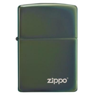 Zippo - Chameleon High Polish Green with Zippo Logo - Windproof Lighter