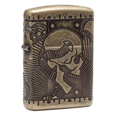 Zippo - Steampunk Skull Armor Antique Brass - Windproof Lighter