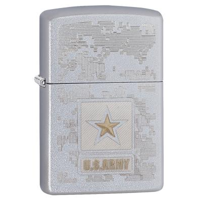 Zippo - U.S. Army Star Satin Chrome - Windproof Lighter
