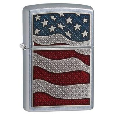 Zippo - Diamond Plate Flag - Windproof Lighter
