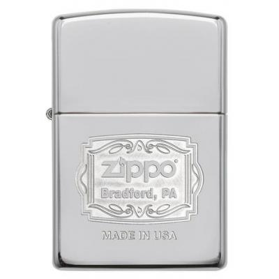 Zippo - High Polish Chrome Bradford PA - Windproof Lighter