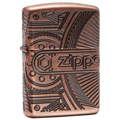 Zippo - Antique Copper Armor Gears - Windproof Lighter