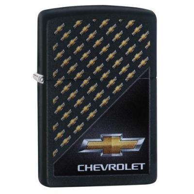 Zippo - Matte Black Chevrolet Logo - Windproof Lighter