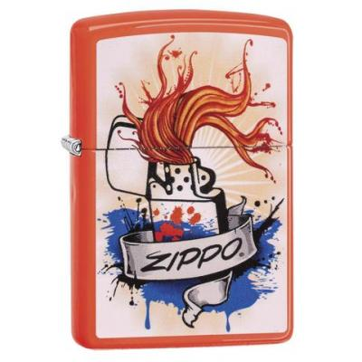 Zippo - Neon Orange Splash - Windproof Lighter