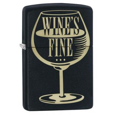 Zippo - Matte Black Wine's Fine - Windproof Lighter