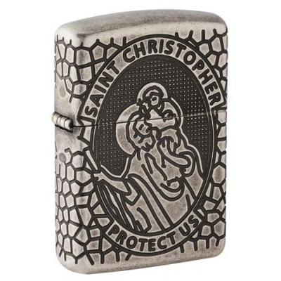 Zippo - Armor St. Christopher Medal Design - Windproof Lighter