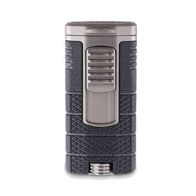 Xikar Tactical Triple Jet Flame Cigar Lighter - Black & Gunmetal