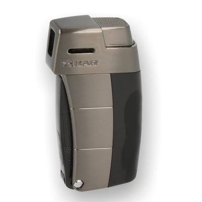 Xikar Resource II Pipe Lighter - Black & Gunmetal Trim