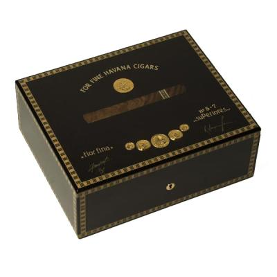 Elie Bleu Medals Collection Black Humidor - 75 Cigar Capacity