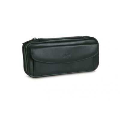 Davidoff Black Leather Case for 2 Pipes