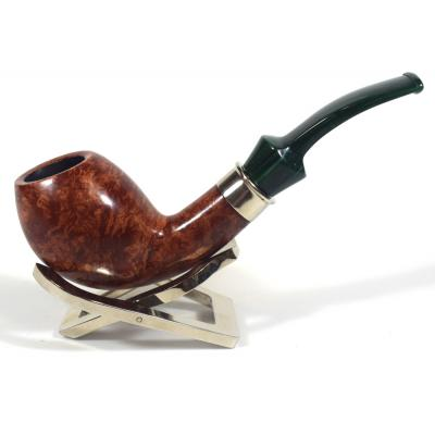 Adams Artisan By Ardor Smooth Brown 9mm Filter Swallowtail Pipe (ART153)