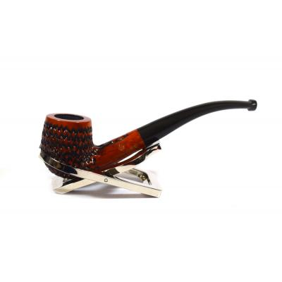 BBB Lightweight Carved Metal Filter Briar Fishtail Pipe (BBB121)