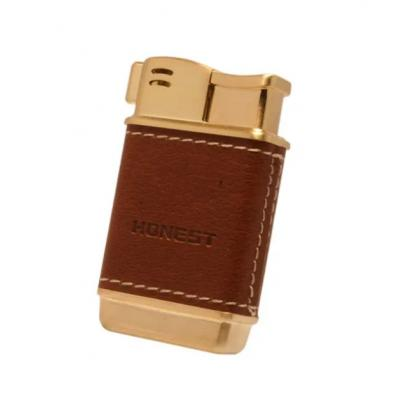 Honest Boyd Pipe Lighter - Gold & Tan (HON04)
