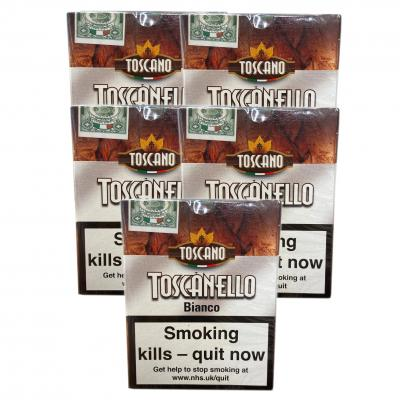 Toscanello Bianco Cigar - 5 Packs of 5 (25 cigars)