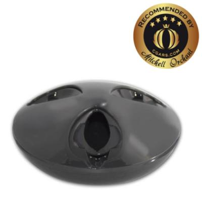 Cigar Oasis Ash-Stay Ashtray - Gun Metal
