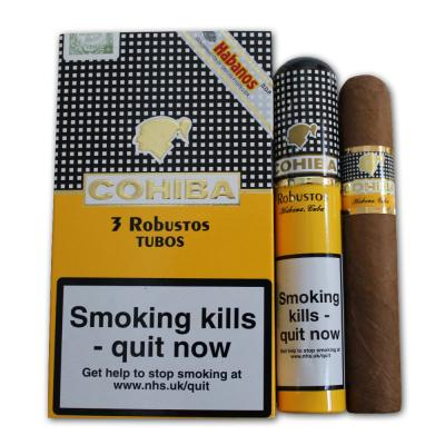 Cohiba Robustos Tubed Cigar - Pack of 3