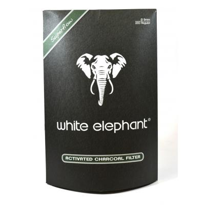 White Elephant Activated Charcoal 9mm Filters - Pack of 250