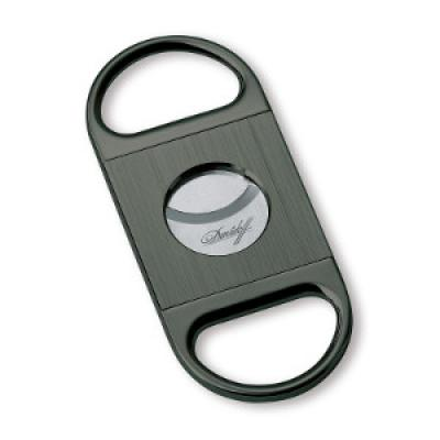 Davidoff Double Blade Cigar Cutter - Brushed Anthracite
