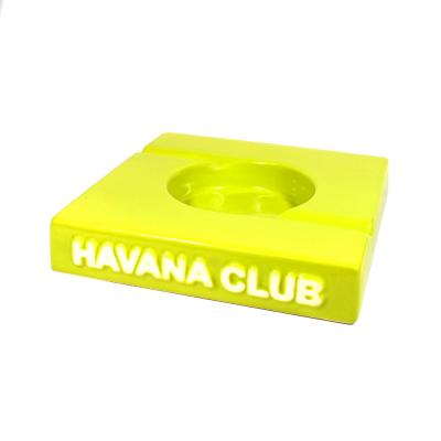 Havana Club Ashtray - El Duplo Double Cigar Ashtray - Fennel Green