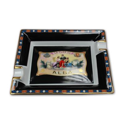 Elie Bleu Porcelain Cigar Ashtray - Alba Black