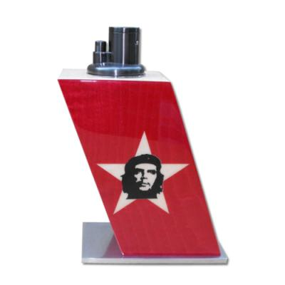 Elie Bleu Torch Table Lighter - Che Star Dyed Red Sycamore