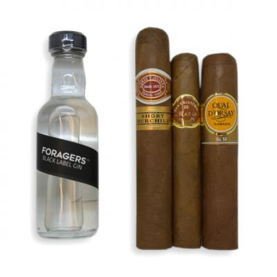 Foragers Black Label Gin + Cuban Cigar Selection Pairing Sampler