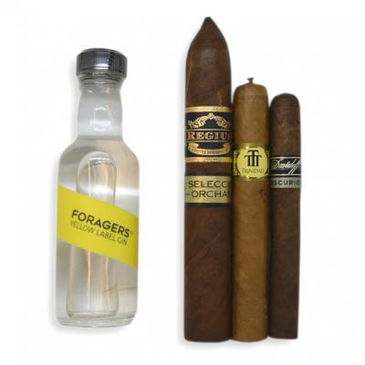A Tasty Treat Pairing Sampler - Foragers Yellow Label Gin + Cigar Selection