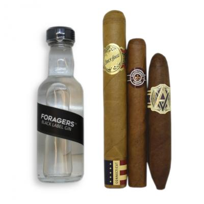 Foragers Black Label Gin + Medium Bodied Cigar Pairing Sampler