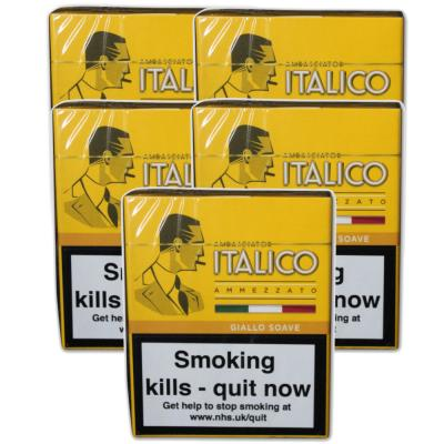 Italico Giallo Soave Cigars - 5 Packs of 5  (25 cigars)