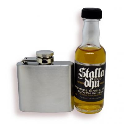 Stalla Dhu Speyside and 2 oz Stainless Steel Hip Flask Sampler