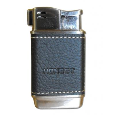 Honest Boyd Pipe Lighter - Black Leather (HON02)