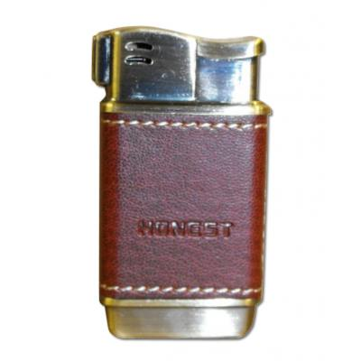 Honest Boyd Pipe Lighter - Brown Leather (HON03)