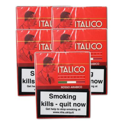 Italico Rosso Arabica Cigars - 5 Packs of 5  (25 cigars)