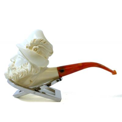 Meerschaum Large Fisherman Bent Fishtail Pipe (MEER135)