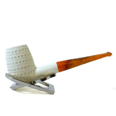 Meerschaum Large Lattice Billiard Straight Fishtail Pipe (MEER142)