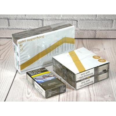 Marlboro Gold Superking 100s - 10 pack of 20 Cigarettes (200)