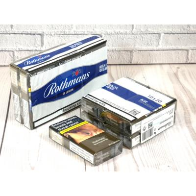 Rothmans Blue Superking - 10 Packs of 20 Cigarettes (200)