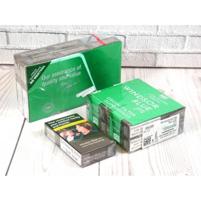 Windsor Blue Green Filter Superkings - 10 Packs of 20 Cigarettes (200)