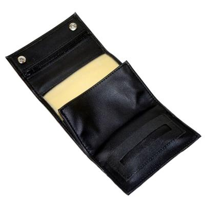Black Leatherette Hand Rolling Tobacco Sifter Pouch and Paper Holder
