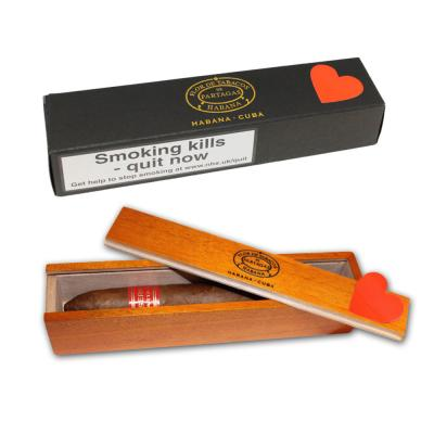 Partagas Serie P No. 2 Cigar - 1 Single in Varnished Slide Lid Box (Coffin)