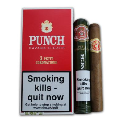 Punch Petit Coronations Tubed Cigar - Pack of 3