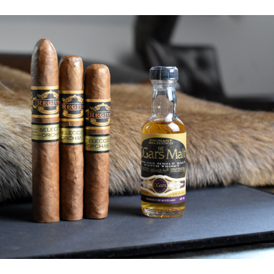A Tasty Pairing Sampler - 3 Cigars + C.Gars Ltd Cigar Malt