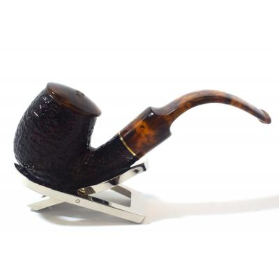 Savinelli Tortuga 614 Rustic Bent 6mm Filter Fishtail Pipe (SAV599)