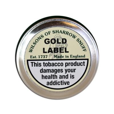 Wilsons of Sharrow Snuff - Gold Label - Large Tin - 20g