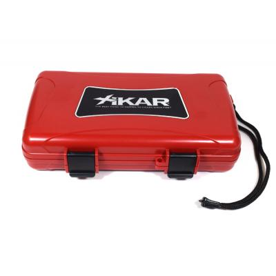 Xikar Travel Waterproof Case Humidor Red - 5 cigars capacity