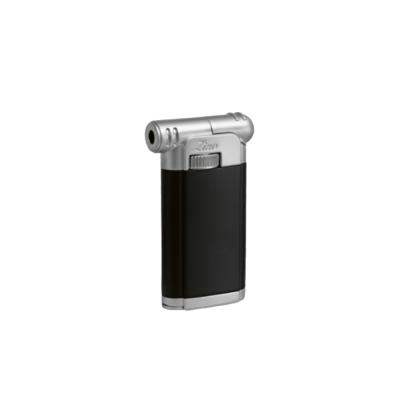 Zino Pipe Lighter - Matte Black and Chrome